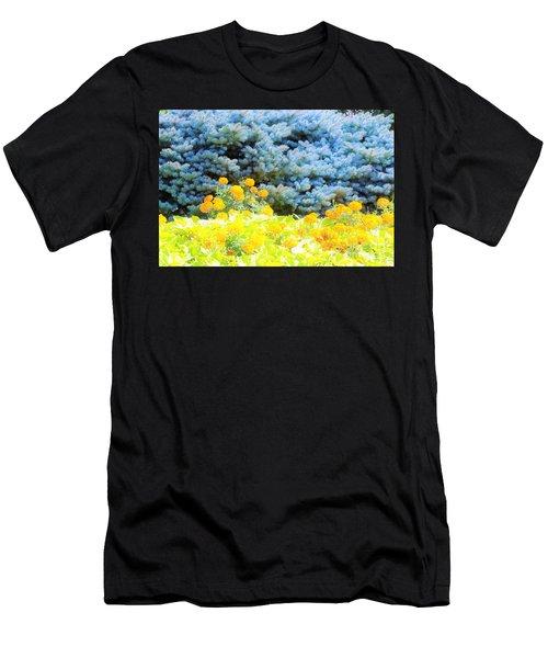 Yellow, Blue, Orange Men's T-Shirt (Athletic Fit)