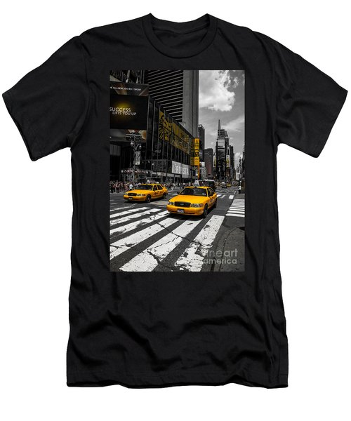 Yellow Cabs Cruisin On The Times Square  Men's T-Shirt (Athletic Fit)
