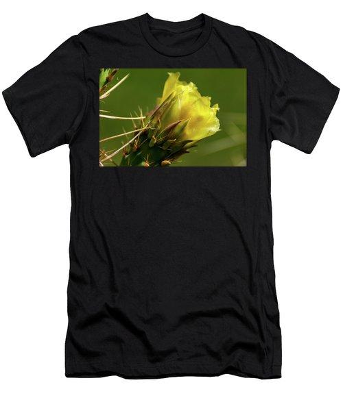 Yellow Cactus Flower Men's T-Shirt (Athletic Fit)