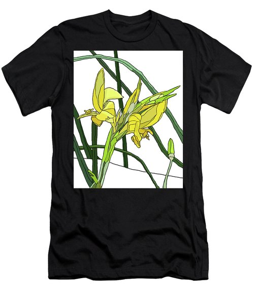 Yellow Canna Lilies Men's T-Shirt (Slim Fit) by Jamie Downs