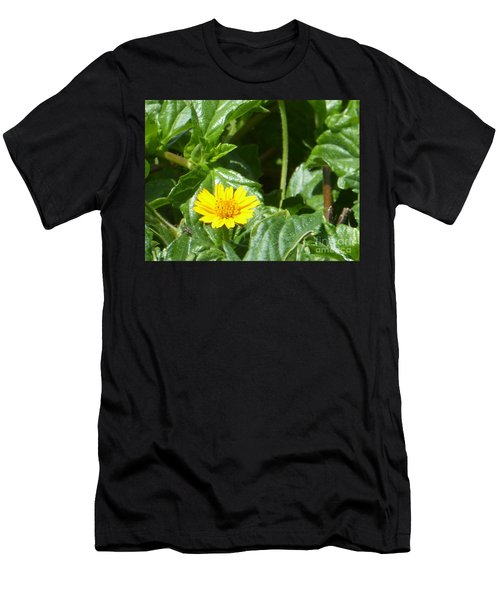 Yellow Caribbean Flower Men's T-Shirt (Athletic Fit)
