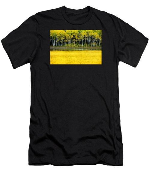 Yellow Men's T-Shirt (Athletic Fit)