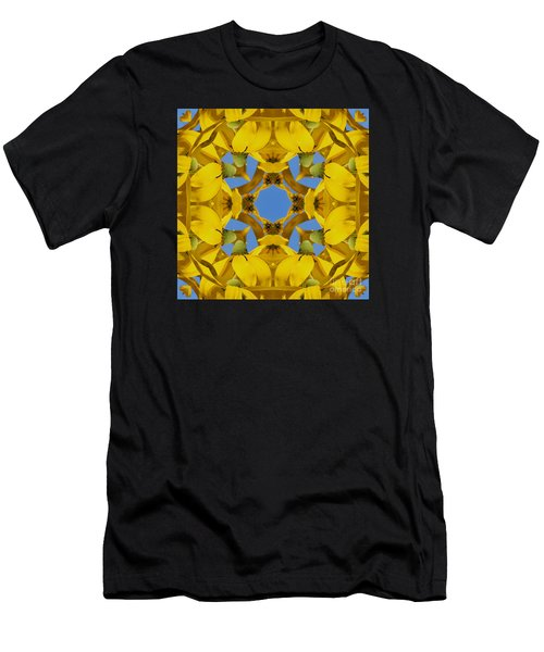Yellow Coneflower Kaleidoscope Men's T-Shirt (Athletic Fit)