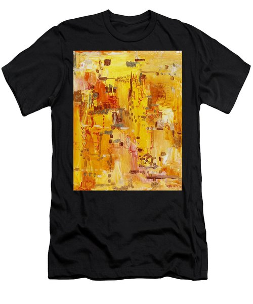 Yellow Conundrum Men's T-Shirt (Athletic Fit)