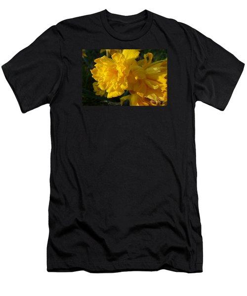Yellow Daffodils Men's T-Shirt (Slim Fit) by Jean Bernard Roussilhe