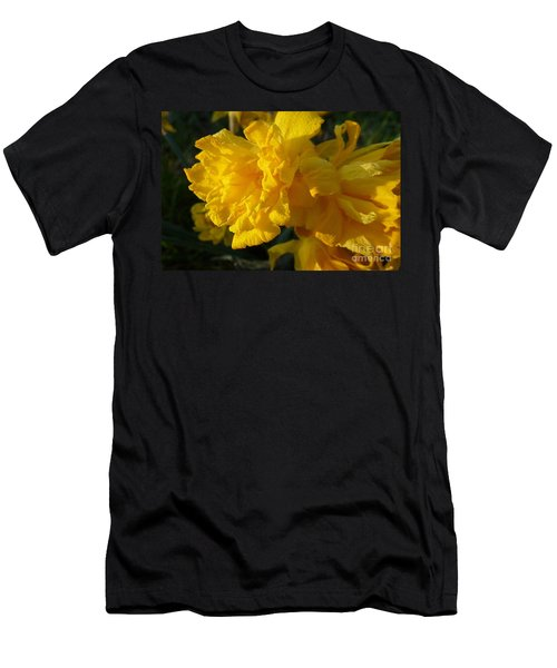 Yellow Daffodils Men's T-Shirt (Athletic Fit)