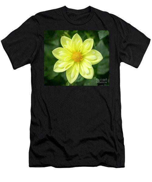 Yellow Dahlia Men's T-Shirt (Athletic Fit)