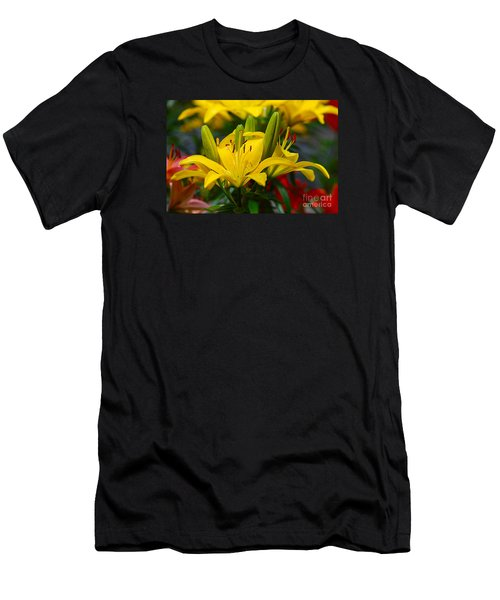 Yellow Day Lily 20120614_55a Men's T-Shirt (Athletic Fit)