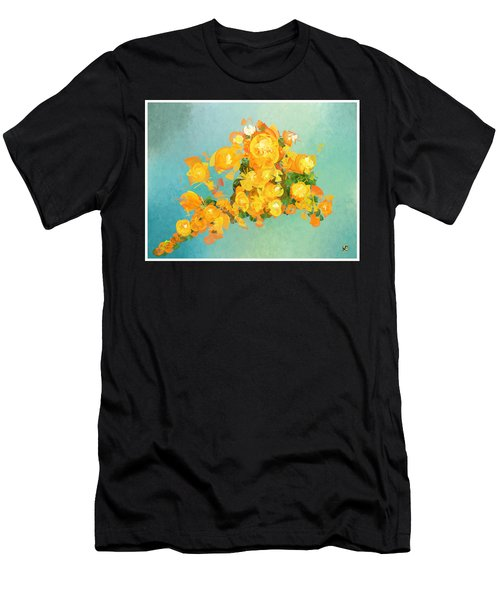 Yellow Fire Spring Men's T-Shirt (Athletic Fit)