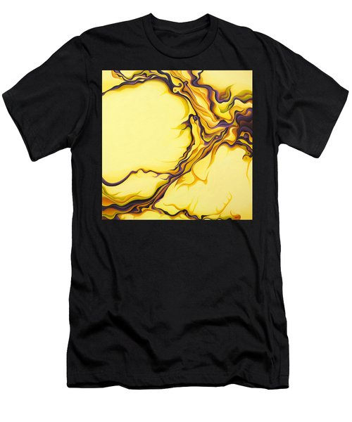 Yellow Flow Men's T-Shirt (Athletic Fit)