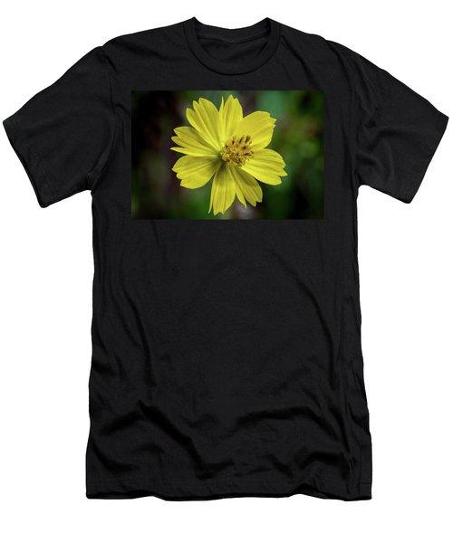 Yellow Flower Men's T-Shirt (Athletic Fit)