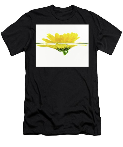 Yellow Flower Floating In Water Men's T-Shirt (Athletic Fit)