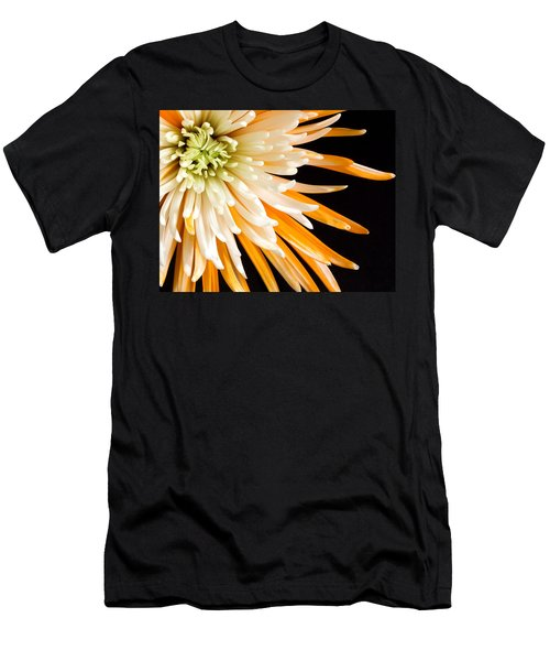Yellow Flower On Black Men's T-Shirt (Athletic Fit)
