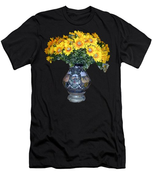 Yellow Flowers In Vase Men's T-Shirt (Athletic Fit)