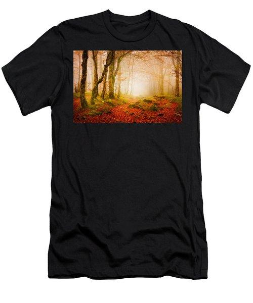 Yellow Forest Mist Men's T-Shirt (Athletic Fit)