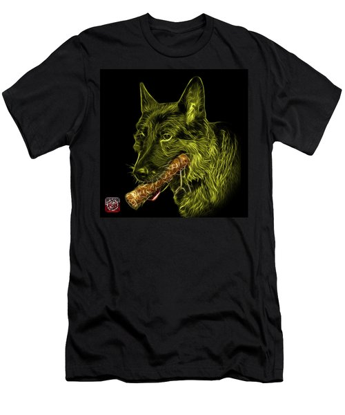 Yellow German Shepherd And Toy - 0745 F Men's T-Shirt (Athletic Fit)