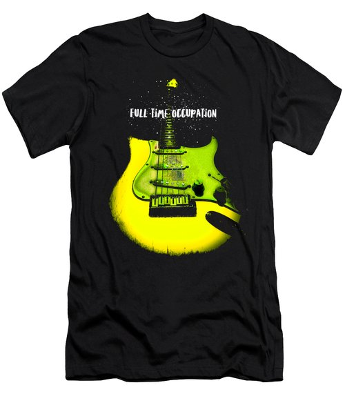 Yellow Guitar Full Time Occupation Men's T-Shirt (Athletic Fit)