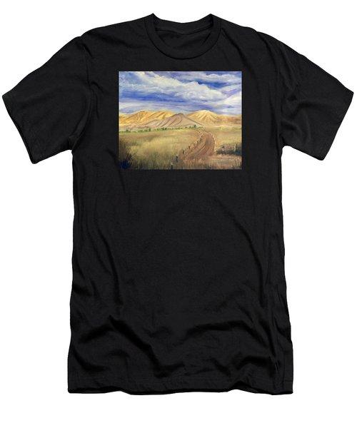 Yellow Hills Of Jensen Men's T-Shirt (Athletic Fit)