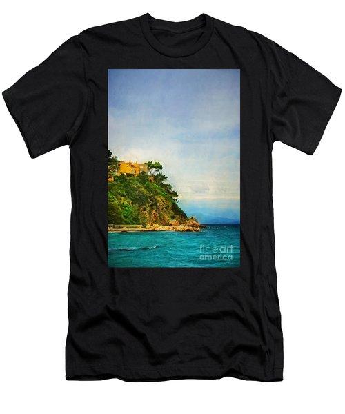 Yellow House In Capri Men's T-Shirt (Athletic Fit)