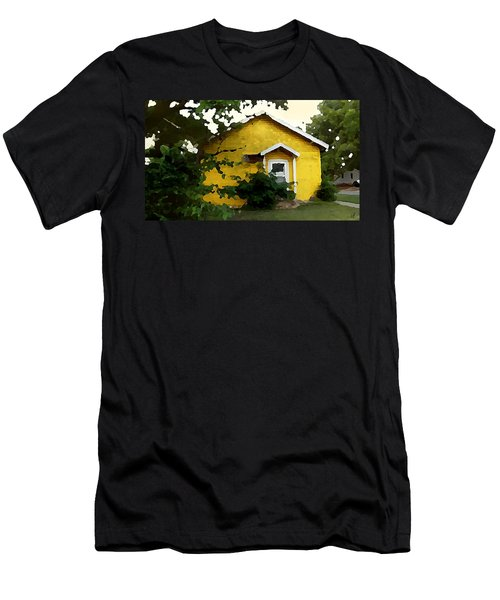 Yellow House In Shantytown  Men's T-Shirt (Athletic Fit)