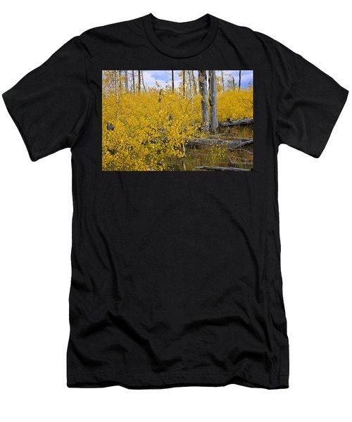Yellow In Grand Teton Men's T-Shirt (Athletic Fit)