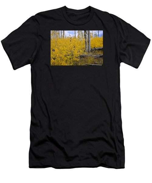 Men's T-Shirt (Athletic Fit) featuring the photograph Yellow In Grand Teton by Ken Barrett