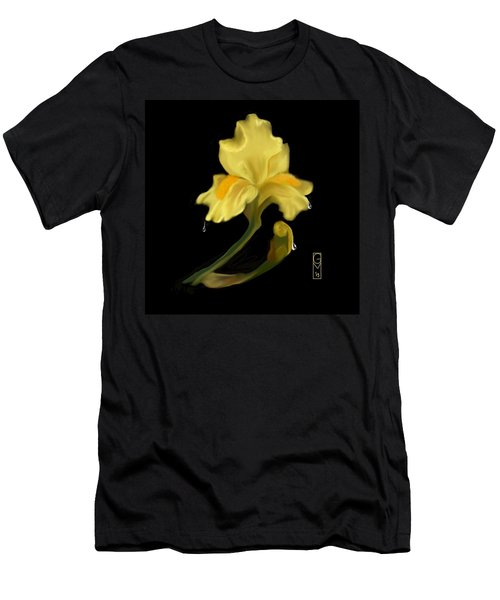 Yellow Iris Men's T-Shirt (Athletic Fit)