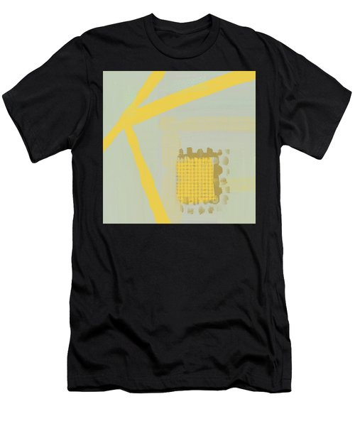 Men's T-Shirt (Athletic Fit) featuring the mixed media Yellow Kay by Eduardo Tavares