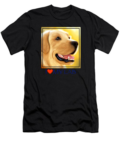 Yellow Lab Portrait Men's T-Shirt (Athletic Fit)