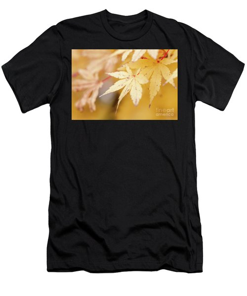 Yellow Leaf With Red Veins Men's T-Shirt (Athletic Fit)