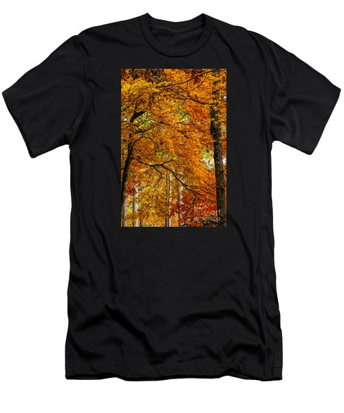 Men's T-Shirt (Slim Fit) featuring the photograph Yellow Leaves by Barbara Bowen