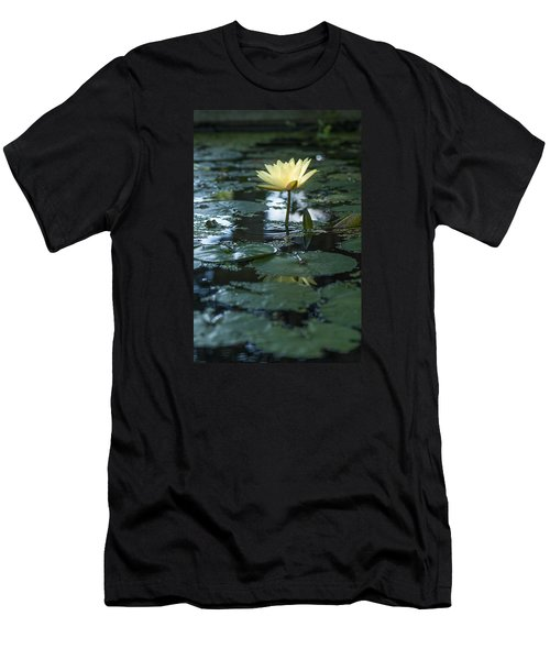Yellow Lilly Tranquility Men's T-Shirt (Athletic Fit)