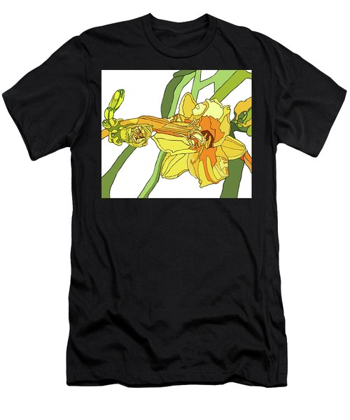 Yellow Lily And Bud, Graphic Men's T-Shirt (Athletic Fit)