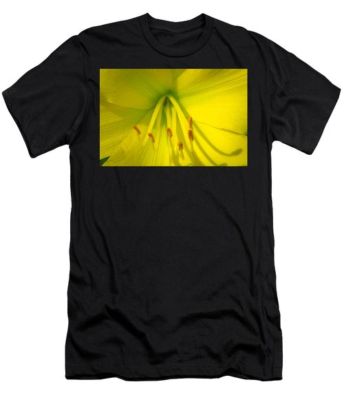Yellow Lily Macro Men's T-Shirt (Athletic Fit)
