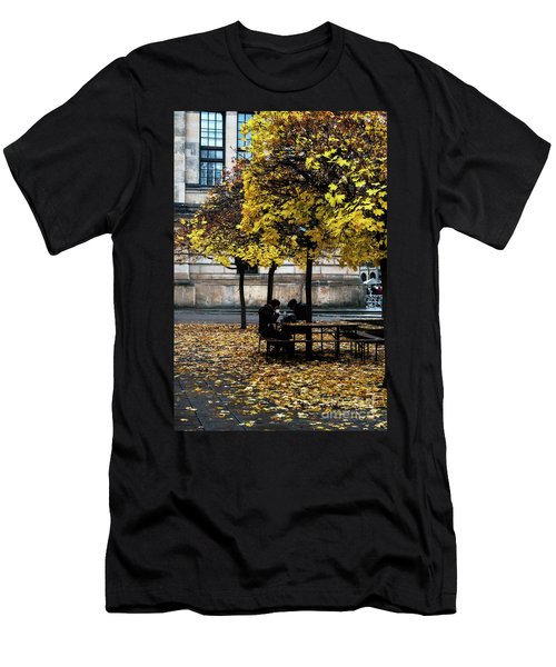 Yellow Lunch Men's T-Shirt (Athletic Fit)