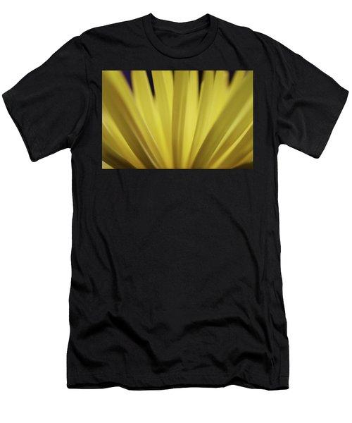 Yellow Mum Petals Men's T-Shirt (Athletic Fit)
