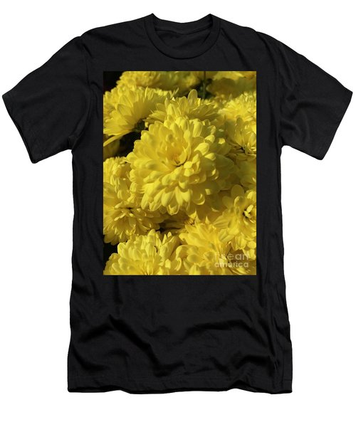 Yellow Mums Men's T-Shirt (Athletic Fit)