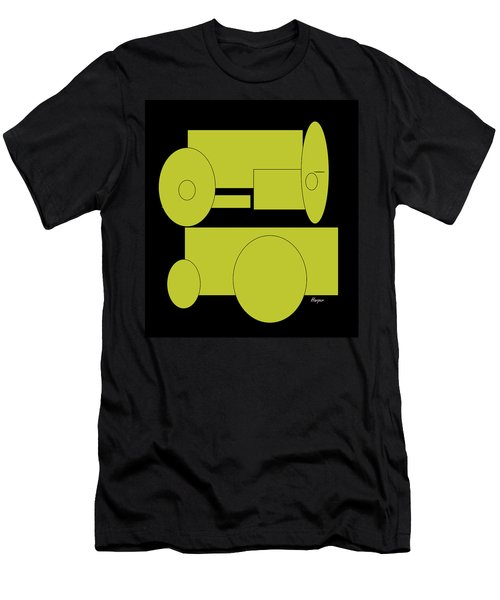 Yellow On Black Men's T-Shirt (Athletic Fit)