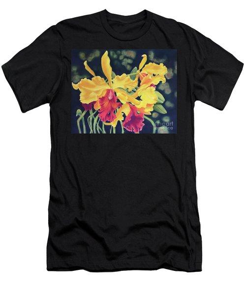 Yellow Orchids Men's T-Shirt (Athletic Fit)