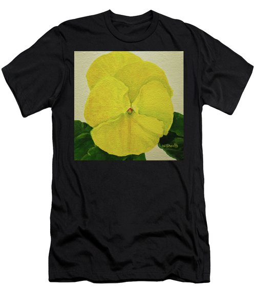 Yellow Pansy Men's T-Shirt (Athletic Fit)