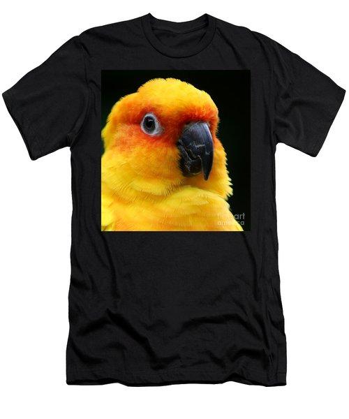 Yellow Parrot Closeup Men's T-Shirt (Athletic Fit)