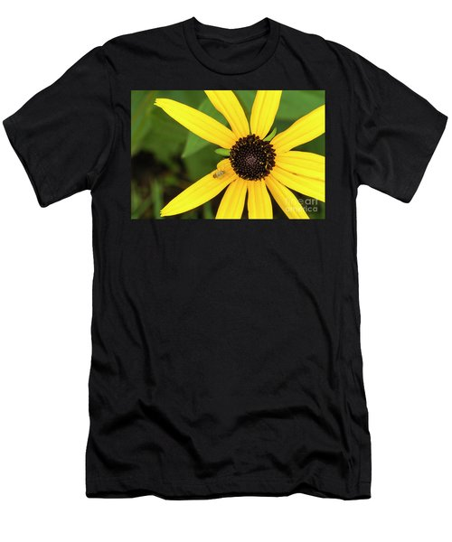 Yellow Petaled Flower With Bug Men's T-Shirt (Athletic Fit)