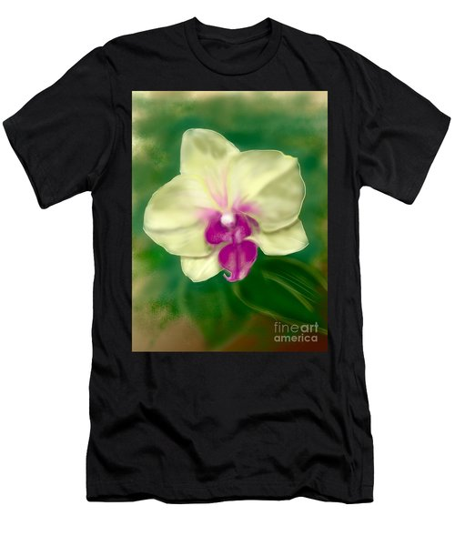 Yellow Phalenopsis Men's T-Shirt (Athletic Fit)