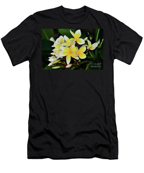 Men's T-Shirt (Athletic Fit) featuring the photograph Yellow Plumeria By Kaye Menner by Kaye Menner