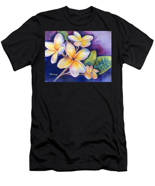 Yellow Plumeria Flowers Men's T-Shirt (Athletic Fit)