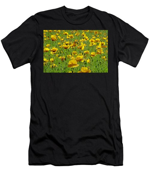 Yellow Poppy Field Men's T-Shirt (Athletic Fit)