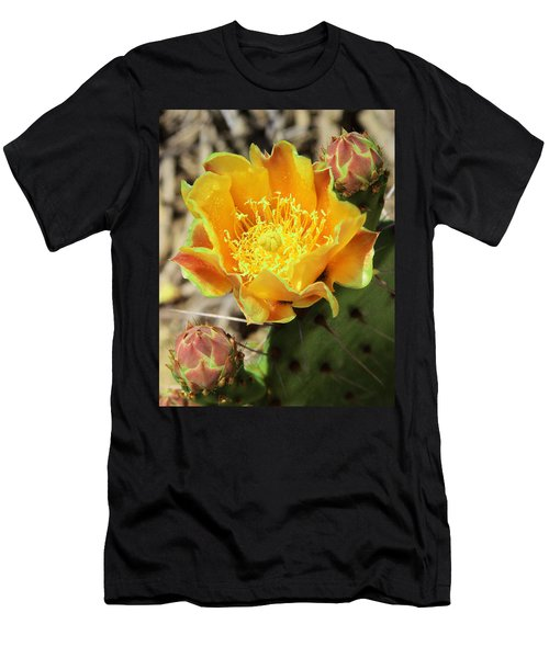 Yellow Prickly Pear Cactus Men's T-Shirt (Athletic Fit)