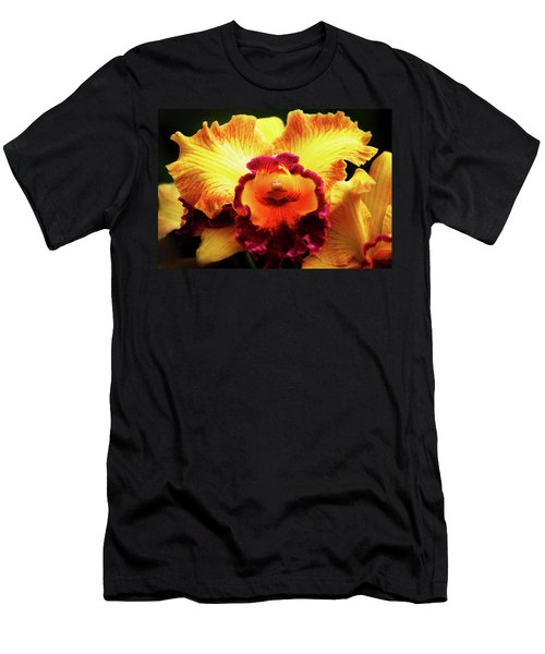 Yellow-purple Orchid Men's T-Shirt (Athletic Fit)