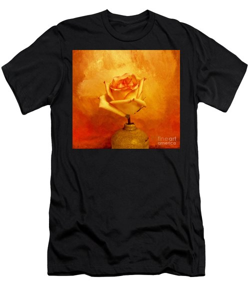Yellow Red Orange Tipped Rose Men's T-Shirt (Athletic Fit)