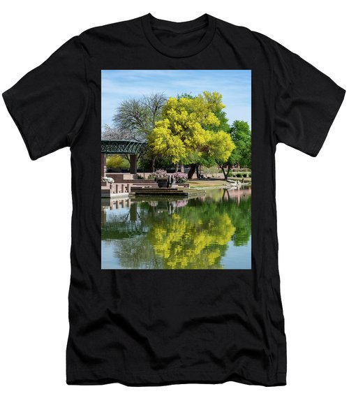 Yellow Reflection Men's T-Shirt (Athletic Fit)